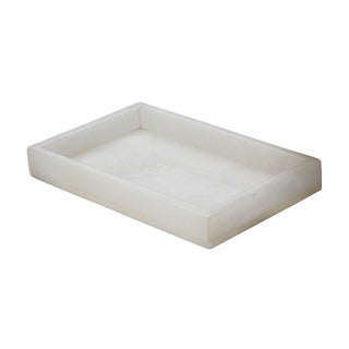 Dimond Home White Alabaster Vanity Tray