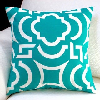 Artisan Pillows Indoor/ Outdoor 18-inch Teal Modern Geometric Coastal Decor Throw Pillow (Set of 2)