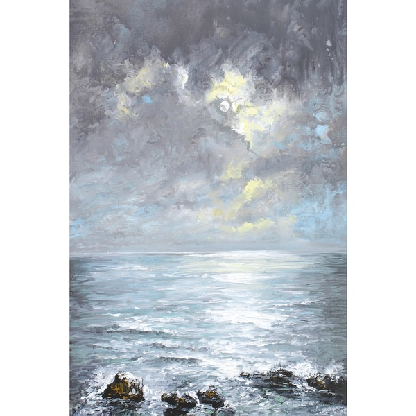 Portfolio Canvas Decor Sandra Francis 'Cloud Burst' 24x36 Framed Canvas Wall Art