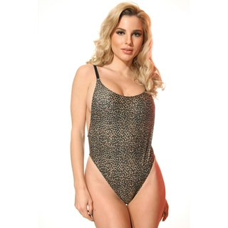 Dippin Daisy's Leopard High Cut Vintage Swimsuit