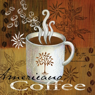 Portfolio Canvas Decor Elena Vladykina 'Coffee Break Americano' 12x12 Framed Canvas Wall Art (Set of 4)