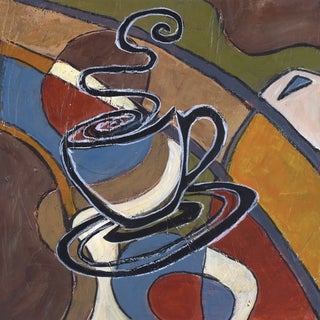 Portfolio Canvas Decor Tara Gamel 'Abstract Coffee I' 12x12 Framed Canvas Wall Art (Set of 4)