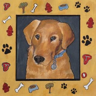 Portfolio Canvas Decor Tara Gamel 'Dog Dreams I' 12x12 Framed Canvas Wall Art (Set of 4)