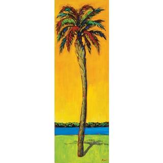 Portfolio Canvas Decor Dupre 'Palms Up I' 12x36 Framed Canvas Wall Art (Set of 2)