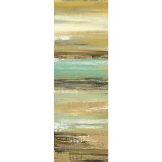 Portfolio Canvas Decor Elinor Luna 'Daring Departure 1' 12x36 Framed Canvas Wall Art (Set of 2)
