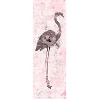 Portfolio Canvas Decor IHD Studio 'Flamingo on Pink I' 12x36 Framed Canvas Wall Art (Set of 2)