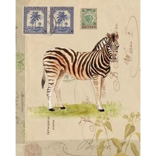Portfolio Canvas Decor Lisa Ven Vertloh 'Africana Giraffe' 16x20 Framed Canvas Wall Art (Set of 2)