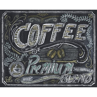 Portfolio Canvas Decor Tara Gamel 'Chalk It Up To Coffee I' 16x20 Framed Canvas Wall Art (Set of 2)