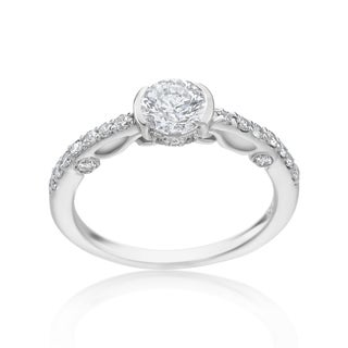 SummerRose 14k White Gold 1 1/5ct TDW Diamond Antique Style Engagement Ring
