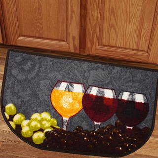 Classic Napa Valley Assorted Wine and Grapes 18x30 Kitchen Slice Rug