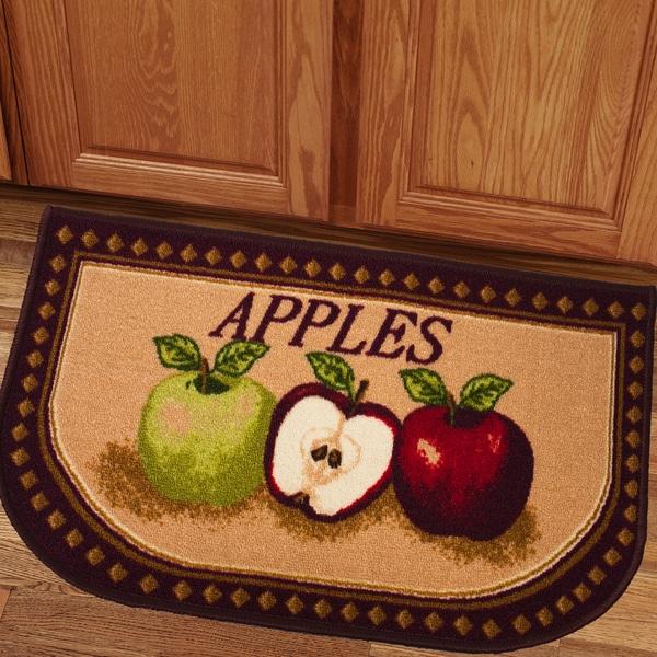 Shop Charming Apples 18x30 Kitchen Slice Rug