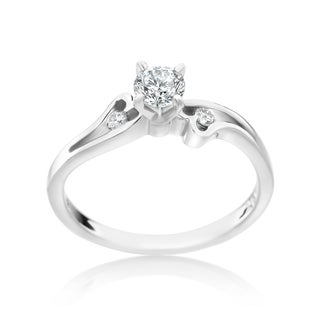 SummerRose 14k White Gold 2/5ct TDW Diamond Fashion Engagement Ring (H-I, SI1-SI2)