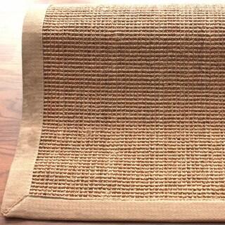 nuLOOM Handmade Alexa Eco Natural Fiber Cotton Border Sisal Rug (8' x 10') in Beige (As (Is Item)