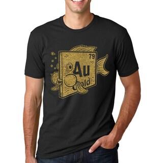 Men's Elemenf of Gold Goldfish Glitter Ink Cool Science T-shirt