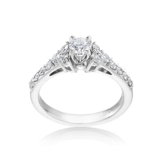 SummerRose 14k White Gold 7/8ct TDW Diamond Engagement Ring