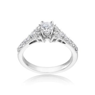 SummerRose 14k White Gold 7/8ct TDW Diamond Engagement Ring (H-I, SI1-SI2)
