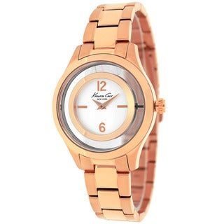Kenneth Cole Women's 10026947 Classic Round Rose Gold-tone Stainless Steel Bracelet Watch