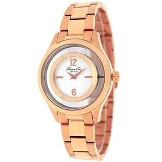 Kenneth Cole Women's 10026947 Classic Round Rose Gold-tone Stainless Steel Bracelet Watch|https://ak1.ostkcdn.com/images/products/10403585/P17505336.jpg?impolicy=medium