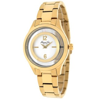Kenneth Cole Women's 10026946 Classic Round Goldtone Stainless Steel Bracelet Watch