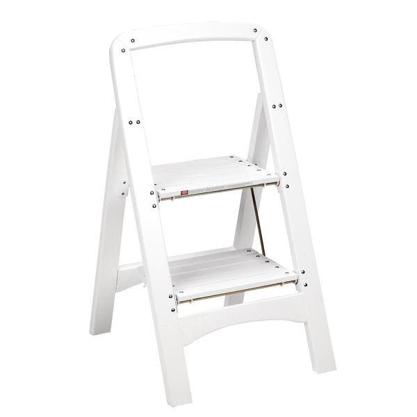 Cosco White Two Step Rockford Wood Stool Free