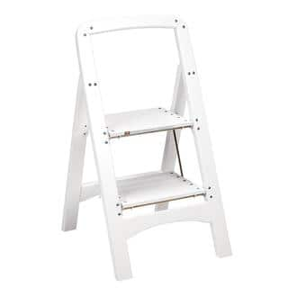 Cosco Retro White Counter Chair Step Stool Free