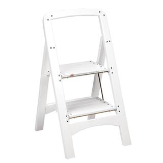 Cosco White Two Step Rockford Wood Step Stool