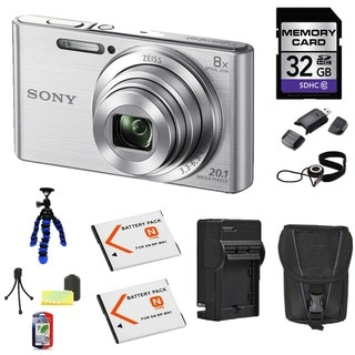 Sony DSC-W830 Silver 32GB Camera Bundle