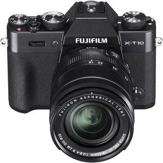 Fujifilm X-T10 Mirrorless Digital Camera with 18-55mm Lens (Black)