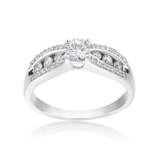 SummerRose 14k White Gold 1/2ct TDW Diamond Engagement Ring