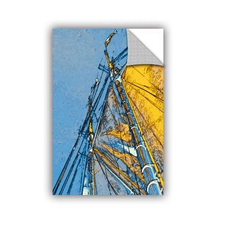 ArtAppealz Linda Parker 'Yellow Sails At Sea' Removable Wall Art