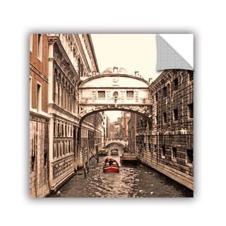ArtAppealz Linda Parker 'Venice: Bridge Of Signs' Removable Wall Art