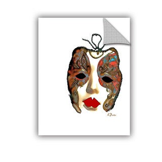 ArtAppealz Linda Parker 'Venetian Mask Ii' Removable Wall Art