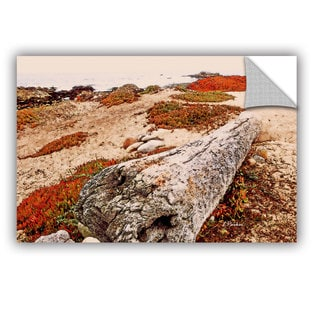 ArtAppealz Linda Parker 'Log On Pebble Beach' Removable Wall Art