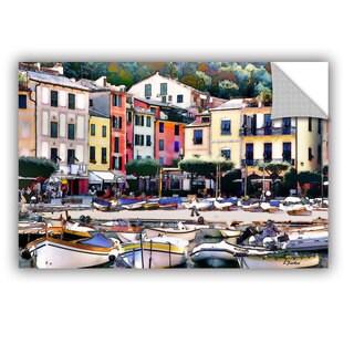 ArtAppealz Linda Parker 'Italy: Sunny Portofino' Removable Wall Art