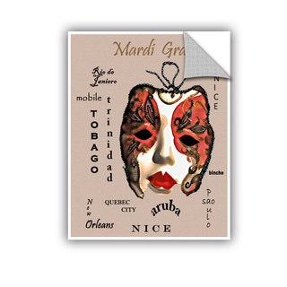 ArtAppealz Linda Parker 'Cities Of Mardi Gras' Removable Wall Art