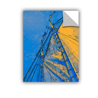 ArtAppealz Linda Parker 'Yellow Sails At Sea' Removable Wall Art