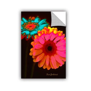 ArtAppealz Linda Parker 'Two Gerberas At Night' Removable Wall Art