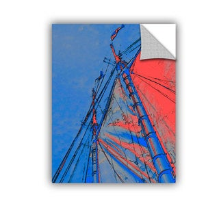 ArtAppealz Linda Parker 'Red Sails At Sea' Removable Wall Art