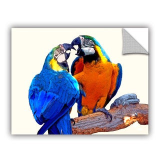 ArtAppealz Linda Parker 'Parrot Passion 2' Removable Wall Art