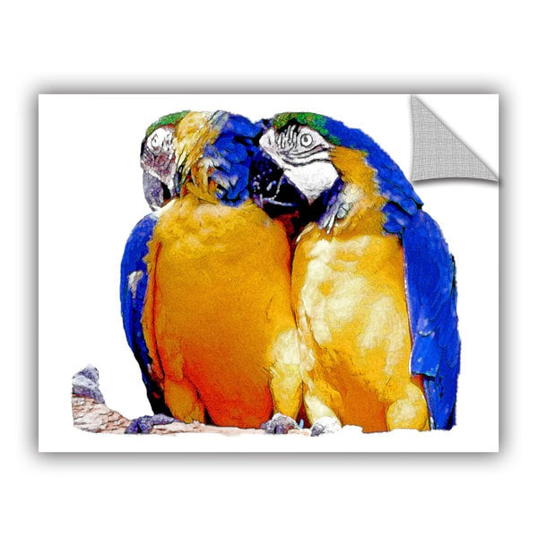 ArtAppealz Linda Parker \'Parrot Passion 1\' Removable Wall Art - Free ...