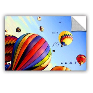 ArtAppealz Linda Parker 'Come Fly With Me' Removable Wall Art