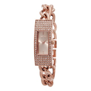 SO&CO New York Women's Madison Quartz Rose-tone Stainless Steel Crystal Bracelet Watch