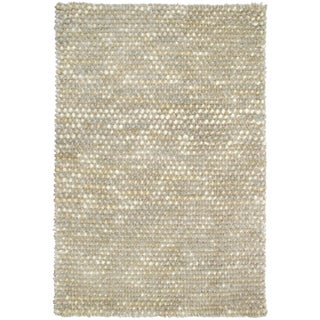 Kosas Home Donna Pebble Shag Ivory Flurry (4' x 6')
