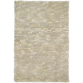 Kosas Home Donna Pebble Shag Ivory Flurry (4' x 6')