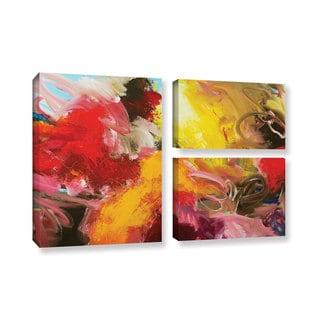 ArtWall Allan Friedlander 'Morning Burst' 3 Piece Gallery-wrapped Canvas Flag Set