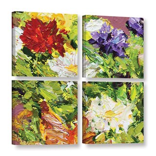 ArtWall Allan Friedlander 'Giving Love 2' 4 Piece Gallery-wrapped Canvas Square Set