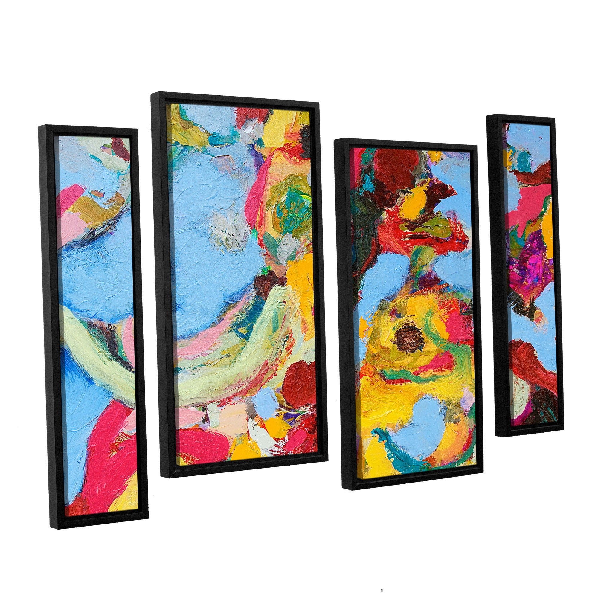 Artwall Allan Friedlander Gathering Season 4 Piece Floater Framed Canvas Staggered Set Overstock 10403951