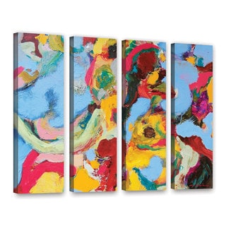 ArtWall Allan Friedlander 'Gathering Season' 4 Piece Gallery-Wrapped Canvas Set