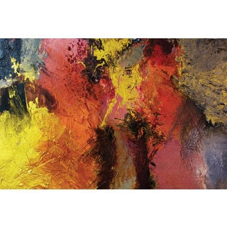 ArtWall Allan Friedlander 'Fire And Brimstone' 4 Piece Gallery-wrapped Canvas Staggered Set
