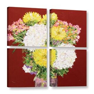 ArtWall Allan Friedlander 'Feeling Happy' 4 Piece Gallery-wrapped Canvas Square Set